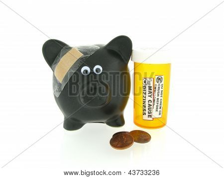 Piggy Bank with Injury