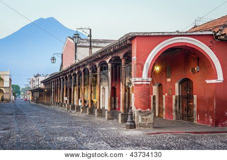 Colonial Style Buildings Antigua, Guatemala