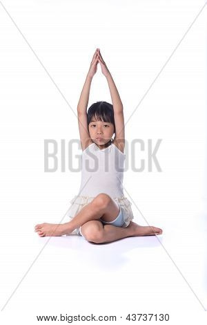 Little Girl Practicing Yoga