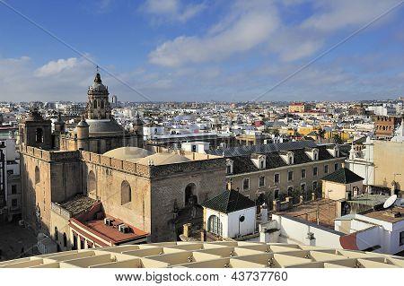 Seville From  Espacio Metropol Parasol, Square La Encarnacion