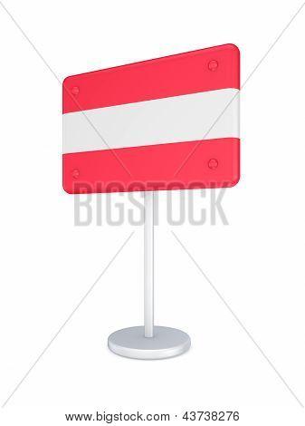 Bunner with flag of Austria.