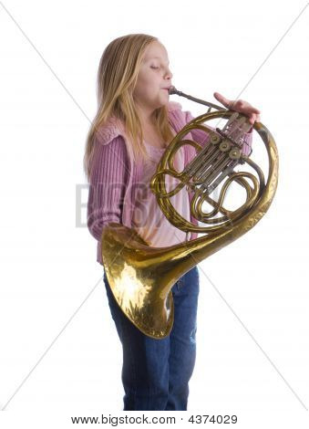 Girl Playing Horn