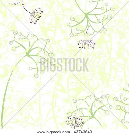 Thin Pastel Flowers Illustration