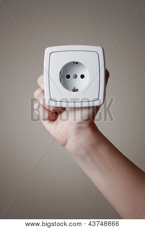 Hand With Electric Outlet