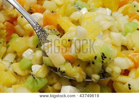Fruit Salad With Spoon