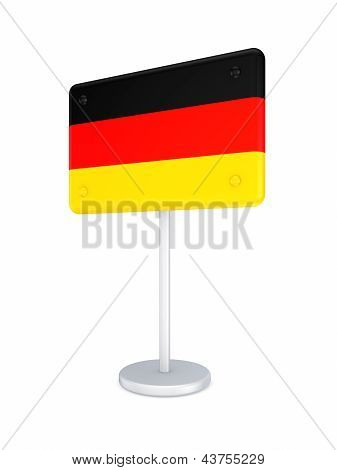 Bunner with flag of Germany.