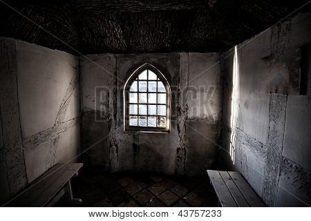 Dark Vintage Interior With Window