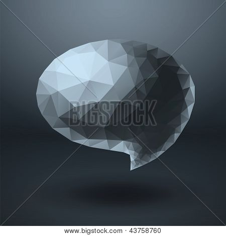 Crystal shapes speech bubble