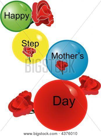 Happy Schritt Mutter 's Tag Ballons...