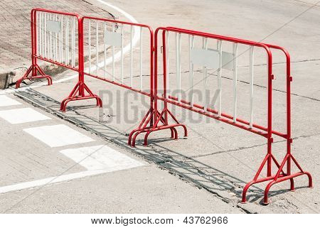 Red Metal Barrier