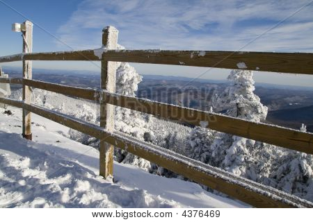 Winter  Wooden Fence At K1 01 All
