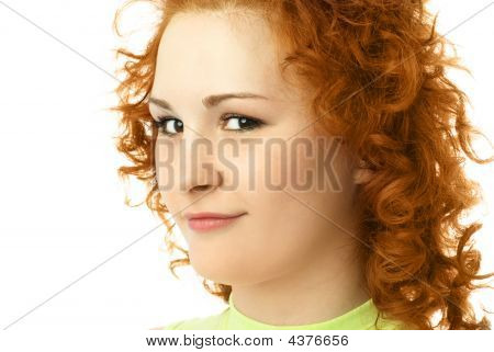 Beautiful Woman With Ginger Hair