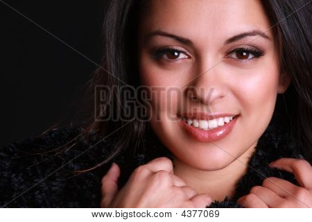 A Young Beautiful Hispanic Woman