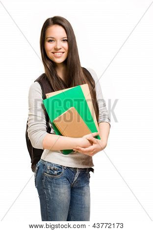 Cute Young Student Girl.