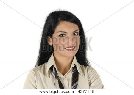 Portrait Of Beautiful Business Woman