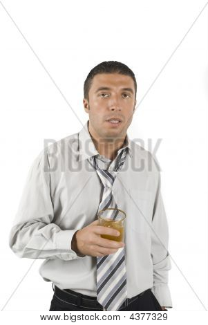 Drunk And Tired Businessman
