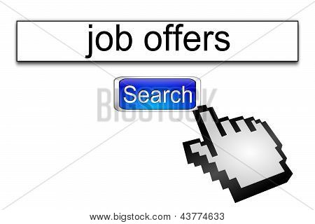Internet web search engine job offers