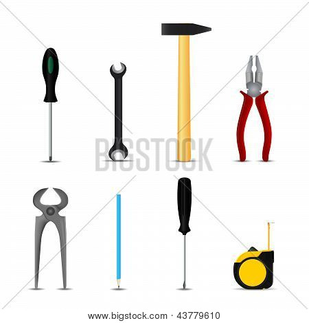 Set of hand tools hobby