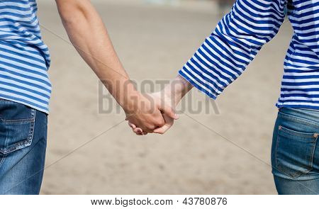 Hands Of Loving Couple
