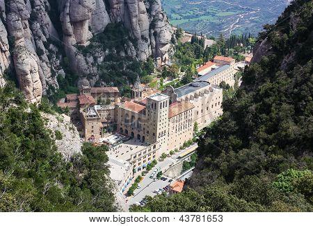 Abadía Santa María De Montserrat, Cataluña, España.