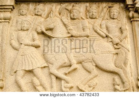 Warrior Buddha on Horseback Frieze