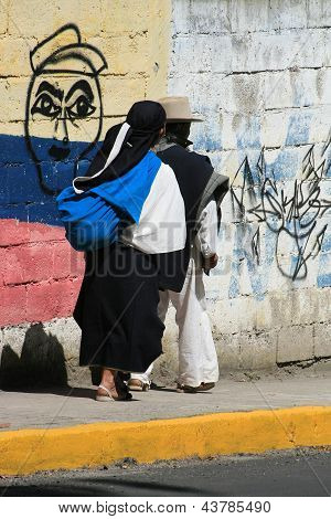Indigenous Couple Walking
