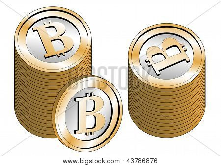 Some Stacked Bitcoins