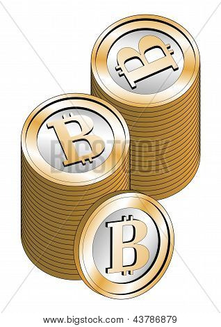Stacked Bitcoins
