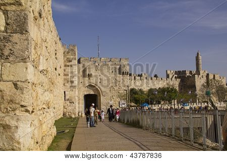 Jerusalem - March 29,2013: Street Scene In Old Town Of Jerusalem