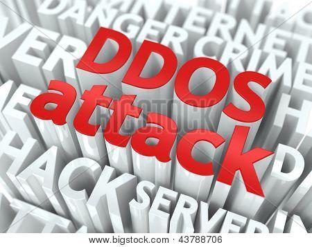 Concepto de ataque DDOS.