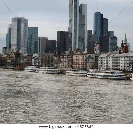The Skyline Of Frankfurt And River Main (germany)