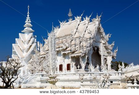 Main Chapel Of The Famous Wat Rong Khun (white Temple) In Thailand