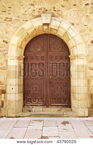 Round Door In Brown