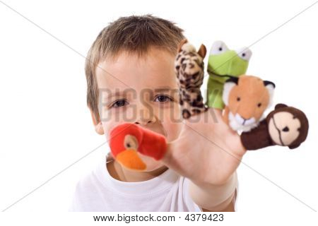Boy With Finger Puppets