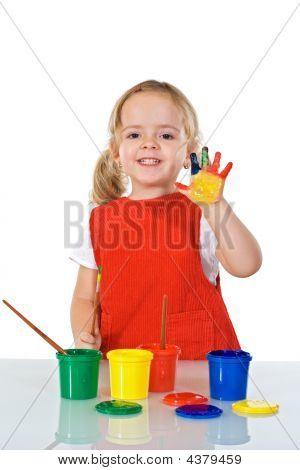 Happy Little Painter Girl