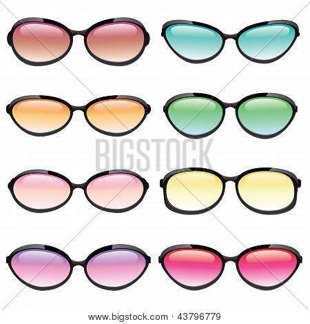 Colorido conjunto de gafas de sol