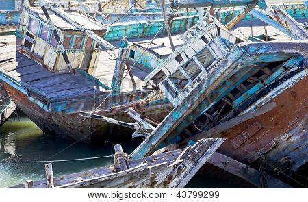 Boat Graveyard India Texture
