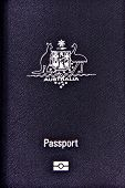 picture of passport cover  - Australian passport for travel and identification - JPG