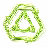 picture of superimpose  - Recycling symbol - JPG