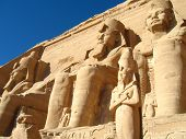 picture of ramses  - Abu Simbel temple in Egypt - JPG