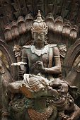 picture of garuda  - Statue of Shiva god on Garuda animal Bali Indonesia - JPG