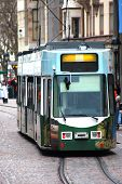 stock photo of muni  - Tram in the downtown of Freiburg in Germany - JPG