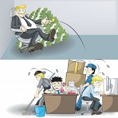 image of insulting  - The real income and workload between company owner and Employees - JPG