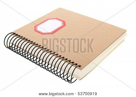 paper notebook isolated over white background