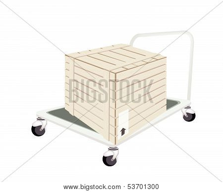 A Hand Truck Loading A Shipping Box