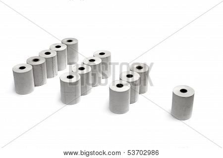 Groups Of Paper Rolls