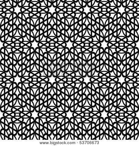 Seamless monochrome elegant pattern. Vector illustration.