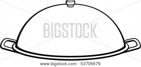 serving tray with lid