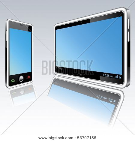 Tablet Computer And Mobile Phone