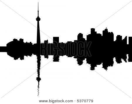 Toronto Skyline Reflected